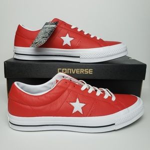 Converse Leather One Star Ox Casino/White